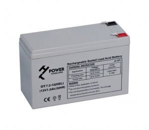 Akumulator żelowy HT POWER OT7.2-12 seria POWER BACKUP GEL 7.2Ah/12V F1 T1