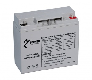 Akumulator żelowy HT POWER OT20-12 seria POWER BACKUP GEL 20Ah/12V L1
